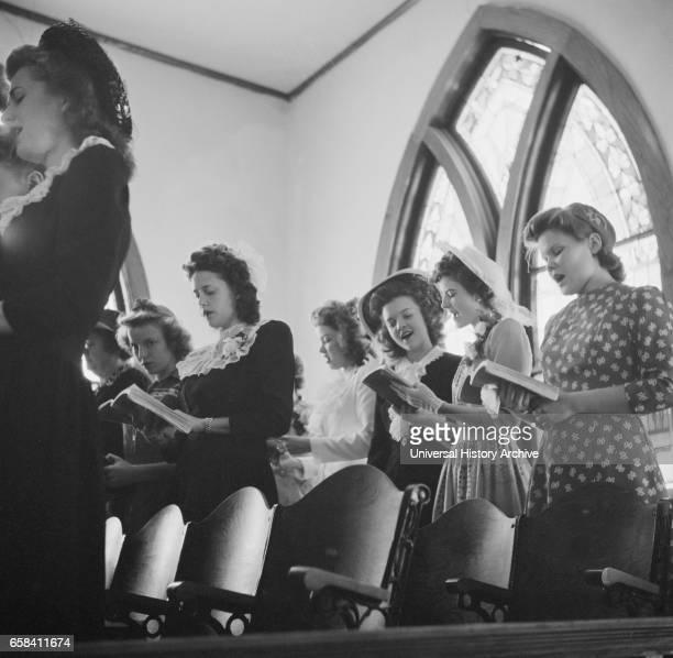 Choir in Methodist Church on Easter Sunday San Augustine Texas USA John Vachon for Office of War Information April 1943