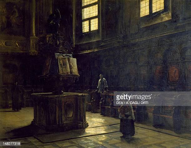 Choir of the St John's Church in Parma by Salvatore Marchesi oil on canvas 765x98 Milano Civiche Raccolte D'Arte Museo Dell'Ottocento Villa...