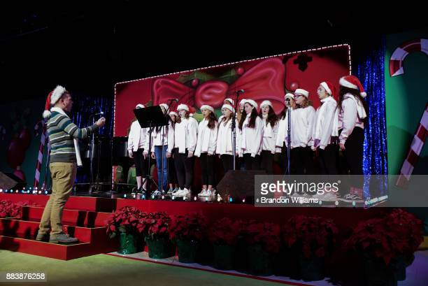 A choir performs at The Fulfillment Fund's 45th Annual Holiday Party for Kids at CBS Televison City on December 1 2017 in Los Angeles California