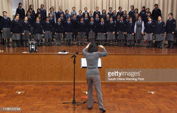 Choir practice at Lam Woo Memorial School, 397 Kwai Sing Circuit, Kwai Hing. 25FEB14