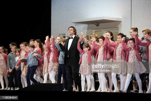 Choirmaster Stellario Fagone during the final applause of the opera premiere of Die tote Stadt by Erich Wolfgang Korngold at Bayerische Staatsoper on...