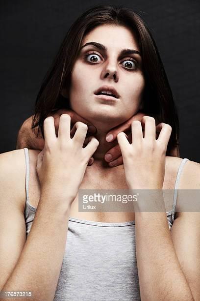 窒息出力を実現 - 喉が詰まる ストックフォトと画像