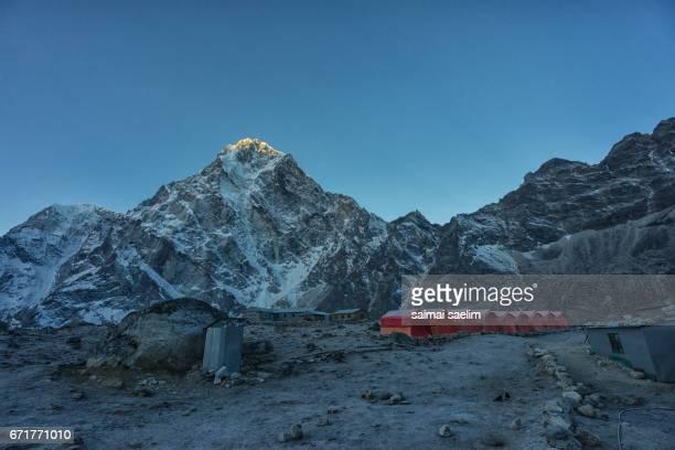 Cholatse mountain peak with sunrise, Everest region, Nepal