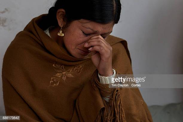Cholita Yolanda La Amorosa reacts while discussing her relationship with her father a former wrestler during interview Yolanda is a member of the...