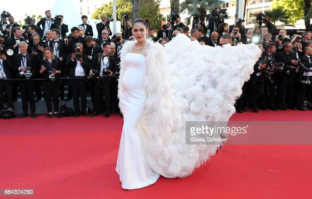 Chompoo Araya attends the 'Ismael's Ghosts ' screening and Opening Gala during the 70th annual Cannes Film Festival at Palais des Festivals on May 17...