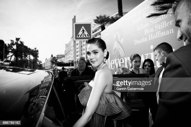 Chompoo Araya departs the Martinez Hotel on May 21 2017 in Cannes France