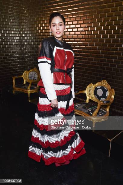 Chompoo Araya Hargate attends the Jean Paul Gaultier Haute Couture Spring Summer 2019 show as part of Paris Fashion Week on January 23 2019 in Paris...