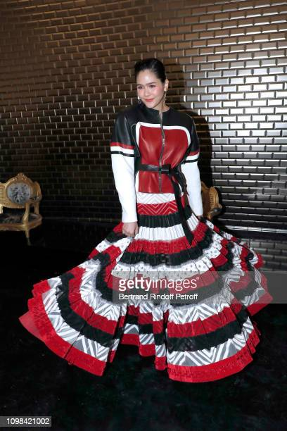 Chompoo Araya Hargate attends the JeanPaul Gaultier Haute Couture Spring Summer 2019 show as part of Paris Fashion Week on January 23 2019 in Paris...