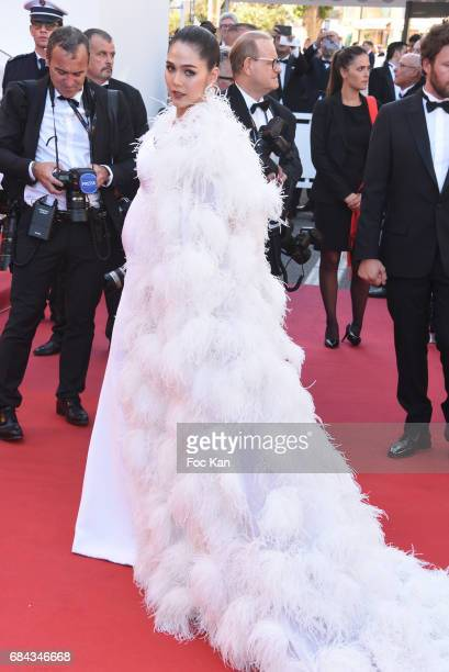 Chompoo Araya r attends the 'Ismael's Ghosts ' screening and Opening Gala during the 70th annual Cannes Film Festival at Palais des Festivals on May...