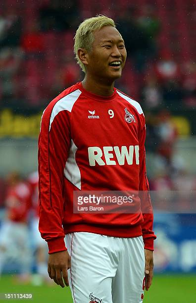 Chong Tese of Koeln warms up prior to the Second Bundesliga match between 1. FC Koeln and Energie Cottbus at RheinEnergieStadion on August 31, 2012...