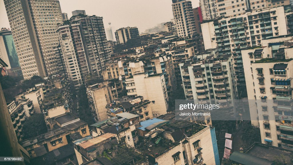 Chongqing, China, rural apartments : Stock Photo