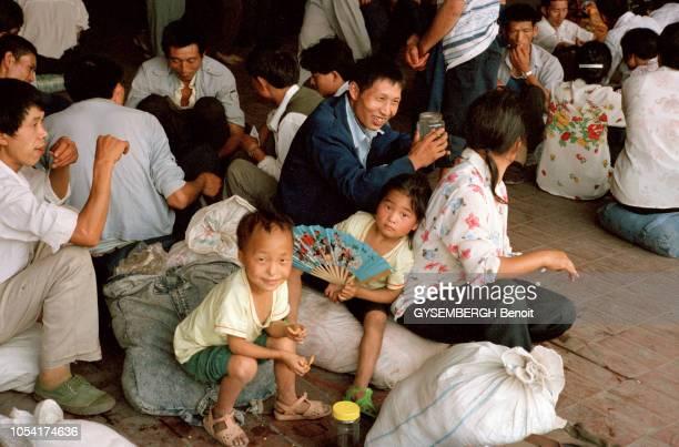la vie quotidienne au coeur de la Chine profonde dite archaïque dans les provinces de l'intérieur qui vivent encore au rythme d'autrefois Groupe de...