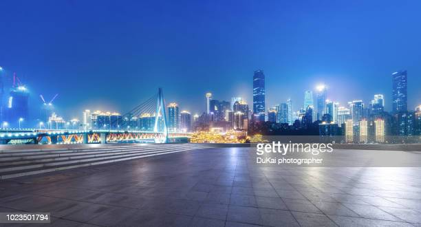 chongqing city square - panoramic stock pictures, royalty-free photos & images