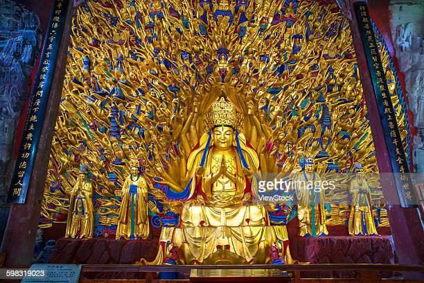 chongqing dazu stone - a buddism godness guanyin thousand - guanyin bodhisattva stock pictures, royalty-free photos & images
