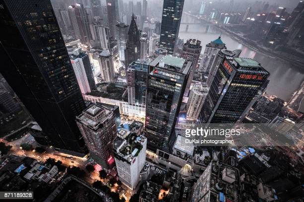chongqing jiefangbei cbd at night - awards ceremony stock pictures, royalty-free photos & images