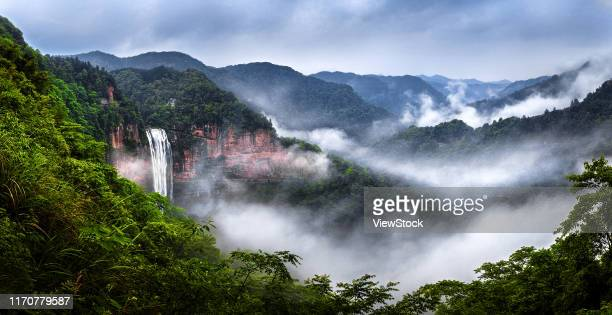 chongqing mountain scenery - visual_effects stock pictures, royalty-free photos & images