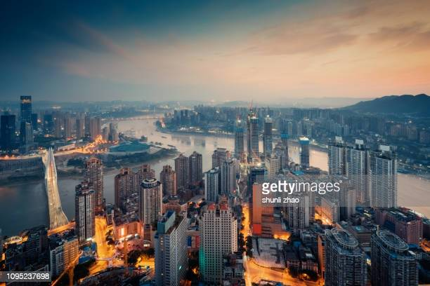 chongqing skyline - chongqing stock photos and pictures