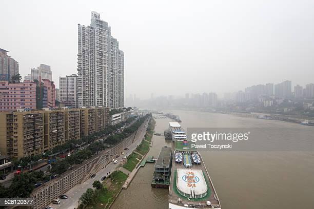 Chongqing waterfront of Jialing river