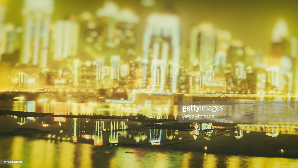 Chongqing's City Lights : Stock Photo