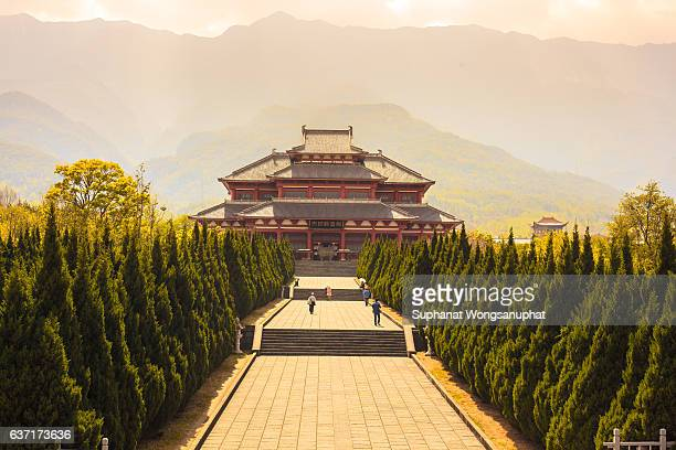 chongsheng monastery portal in dali, yunnan, china - yunnan province stock pictures, royalty-free photos & images
