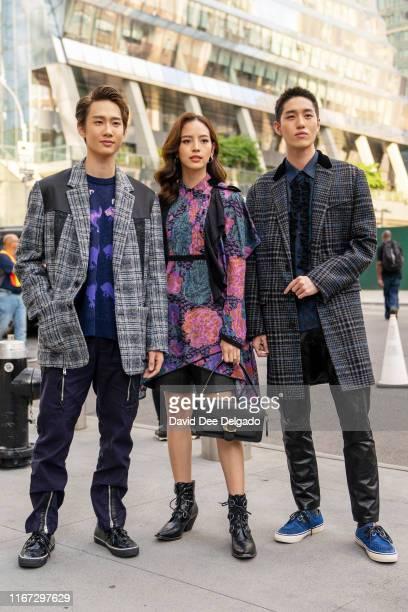 Chonlathorn Kongyingyong, Nuttanicha Dungwattanawanich and Thanapob Leeratanakajorn attend the front row for Coach 1941 during New York Fashion Week...
