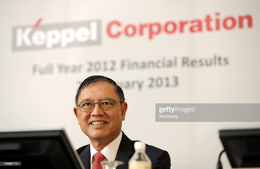 Choo Chiau Beng, chief executive officer of Keppel Corp., reacts during a news conference in Singapore, on Thursday, Jan. 24, 2013. Keppel Corp., the world's largest oil-rig maker, posted a 22 percent decline in fourth-quarter profit after contribution from the marine unit fell and higher competition with Chinese shipbuilders depressed margins. Photographer: Munshi Ahmed/Bloomberg via Getty Images