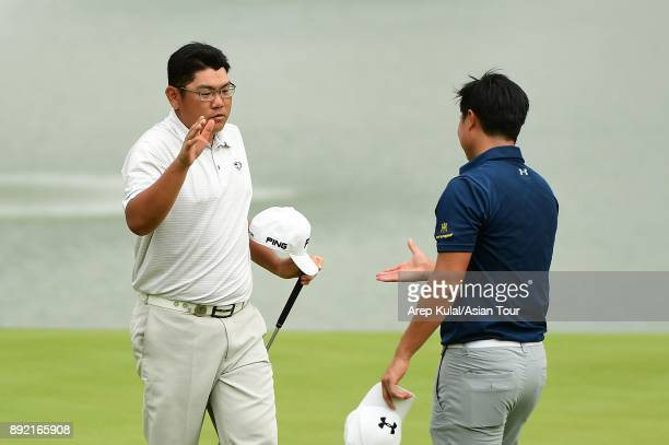 Choo Tze Huang of Singapore pictured during round one of the 2017 Indonesian Masters at Royale Jakarta Golf Club on December 14 2017 in Jakarta...