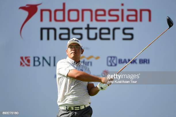 Choo Tze Huang of Singapore pictured during round two of the 2017 Indonesian Masters at Royale Jakarta Golf Club on December 15 2017 in Jakarta...