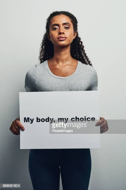 i choose what to do with my body - sign stock pictures, royalty-free photos & images