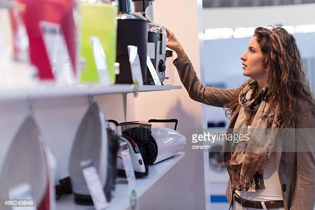choosing electric juicer - appliance stock pictures, royalty-free photos & images