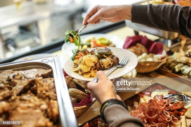 choosing food - the brunch stock pictures, royalty-free photos & images