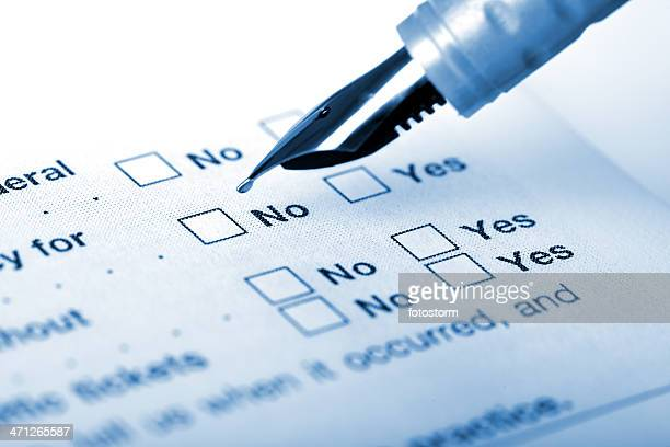 Choosing No on the application form