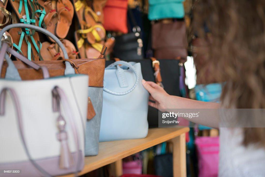 Choosing The Perfect Handbag : Stock Photo
