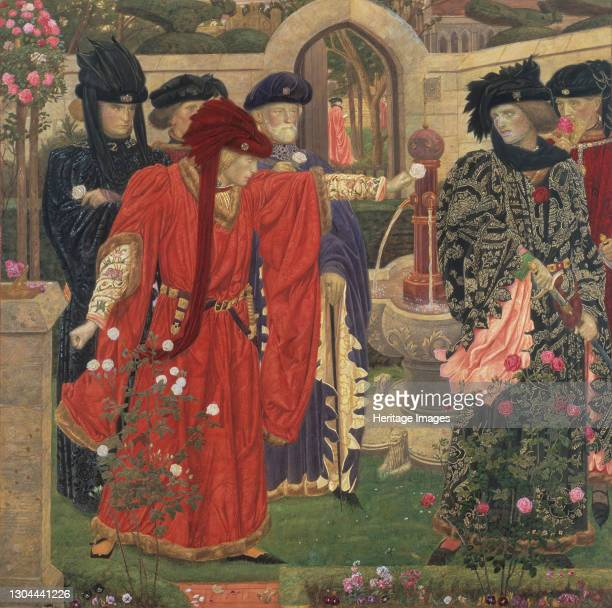 Choosing The Red and White Roses in the Temple Garden, 1910. Artist Henry Payne.