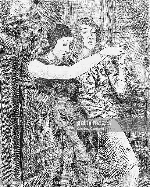 Chop Suey Dancers by Reginald Marsh