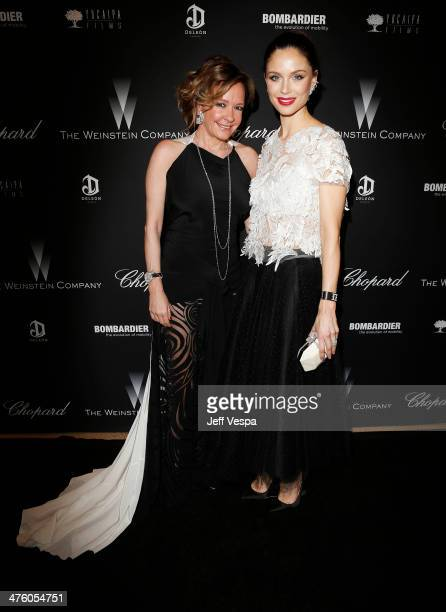Chopard CoPresident and Creative Director Caroline Scheufele and designer Georgina Chapman attend The Weinstein Company's Academy Award party hosted...