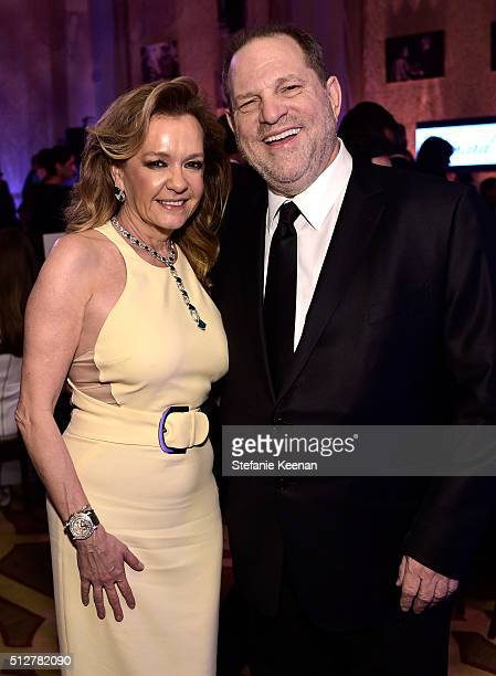 Chopard CoPresident Artistic Director Caroline Scheufele and CoChairman The Weinstein Company Harvey Weinstein attend The Weinstein Company's...