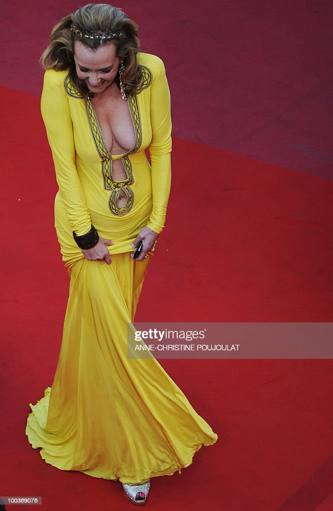 Chopard vice CEO Caroline Gruosi-Scheufele arrives for the screening of 'Utomlyonnye Solntsem 2: Predstoyanie' (The Exodus - Burnt By The Sun 2) presented in competition at the 63rd Cannes Film Festival on May 22, 2010 in Cannes.
