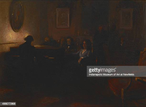 Chopin TriptychChopin and George Sand by Italian artist Lionello Balestrieri about 1905 Gift of Mr and Mrs W J Holliday Sr
