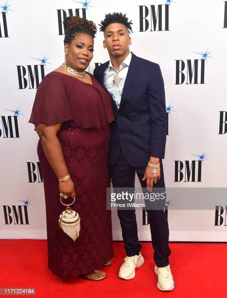 Choppa and His Mother attend The 2019 BMI RB/HipHop Awards at Sandy Springs Performing Arts Center on August 29 2019 in Sandy Springs Georgia