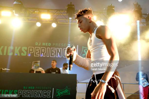 Choppa performs at the Kicksperience Stage Sponsored By Sprite during the BET Experience at Staples Center on June 22 2019 in Los Angeles California