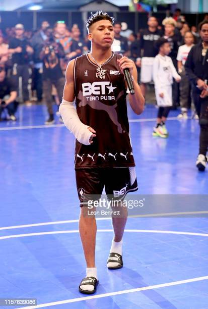 Choppa plays in the BETX Celebrity Basketball Game Sponsored By Sprite during the BET Experience at Los Angeles Convention Center on June 22 2019 in...