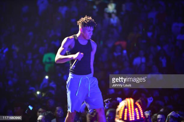 Choppa preforms on stage at Watsco Center on September 27 2019 in Coral Gables Florida