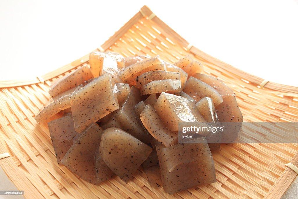 chopped Japanese food Konjace : Stock Photo