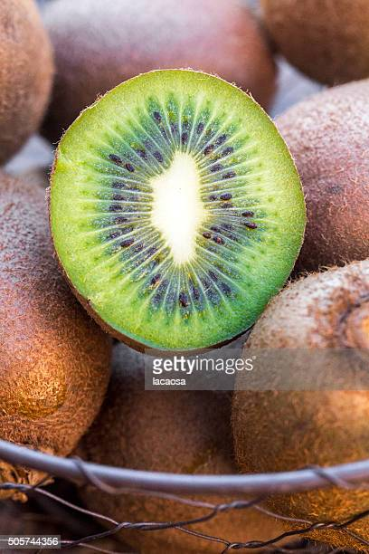 chopped kiwi, close up
