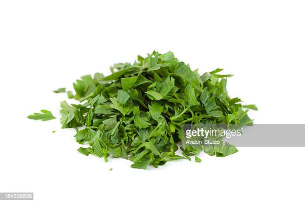 chopped parsley - chop stock pictures, royalty-free photos & images