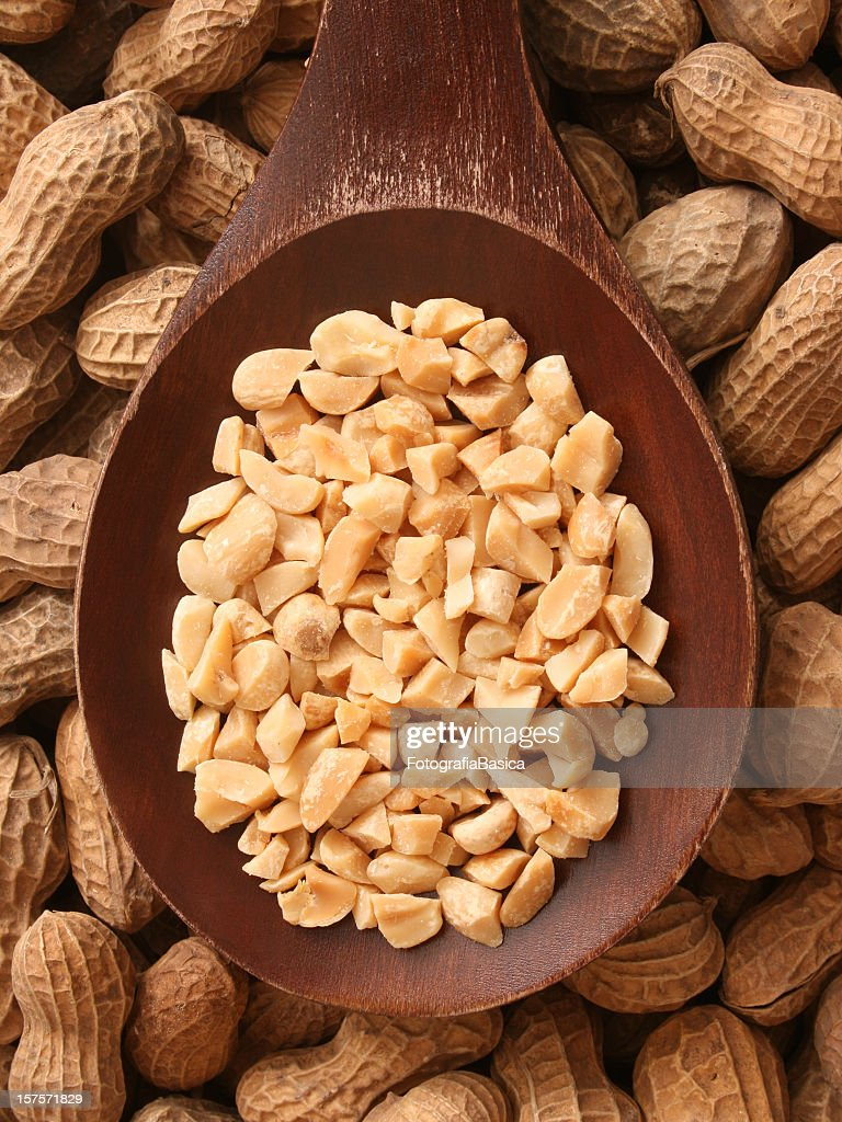 Chopped peanuts : Stock Photo