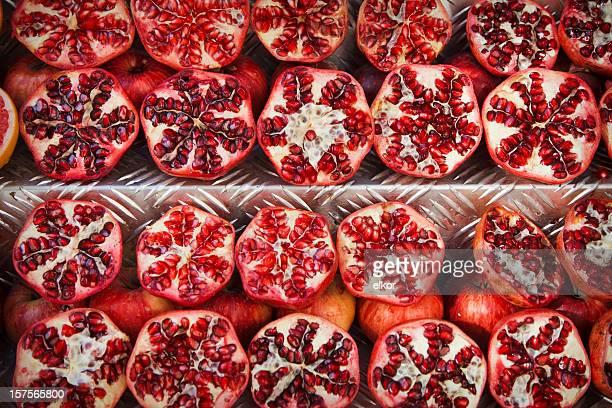Chopped pomegranates