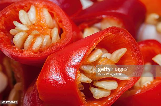 Chopped red chili pepper