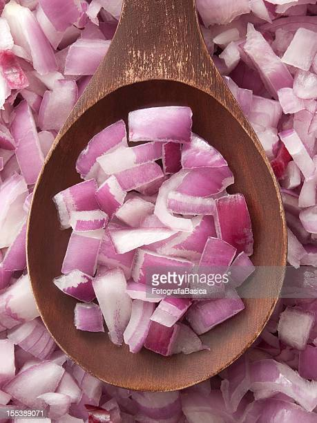 chopped red onion - spanish onion stock pictures, royalty-free photos & images